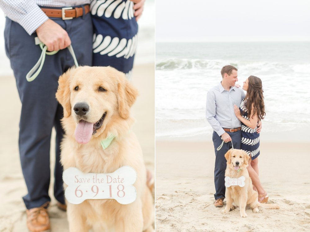 I love that the save the date is on a bone, so cute!