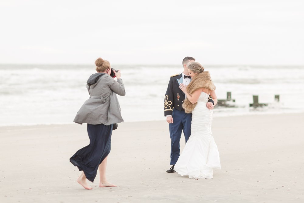 Also not the first time I have let the bride borrow my flats so she doesn't have to wear her heels in the sand. Glad to help!