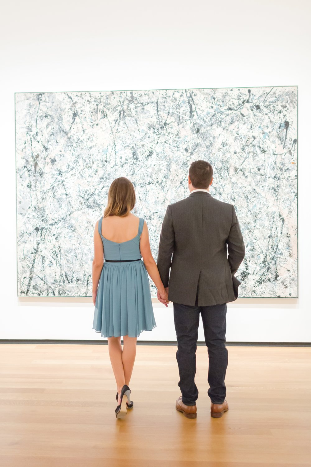 This was such a fun and different engagement session at the National Gallery of Art!