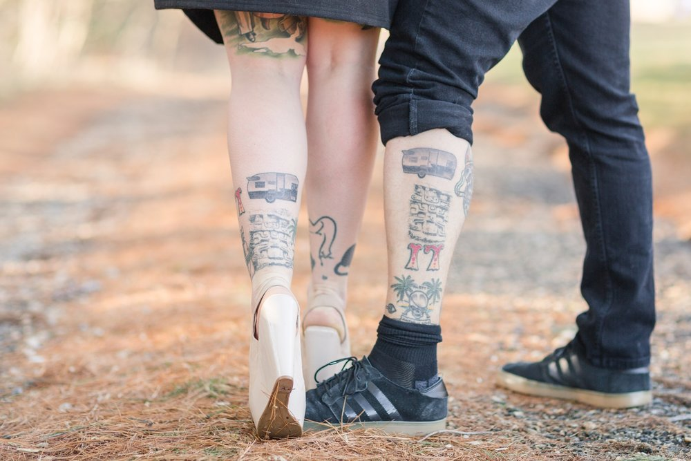 Their adorable matching tattos they just got of a camper!