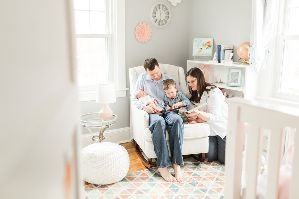 Love this shot of the fam reading together. Precious moments!