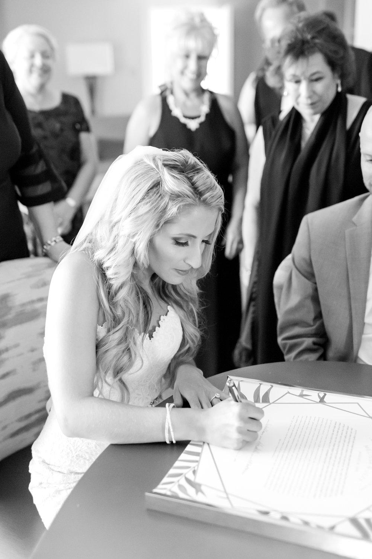 Signing the Ketubah!