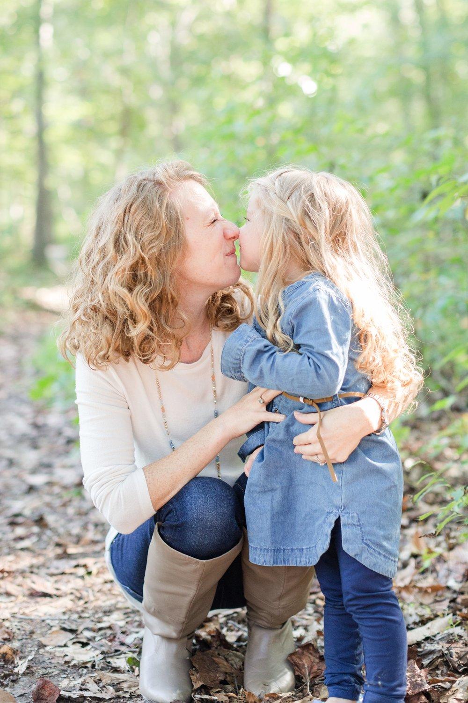 Eskimo kisses for Mom. Love!