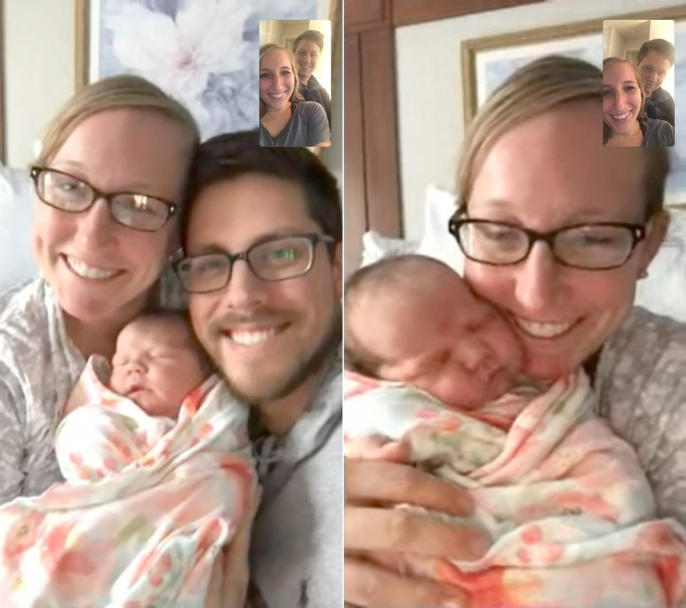 Facetime with sissy and Jackson!