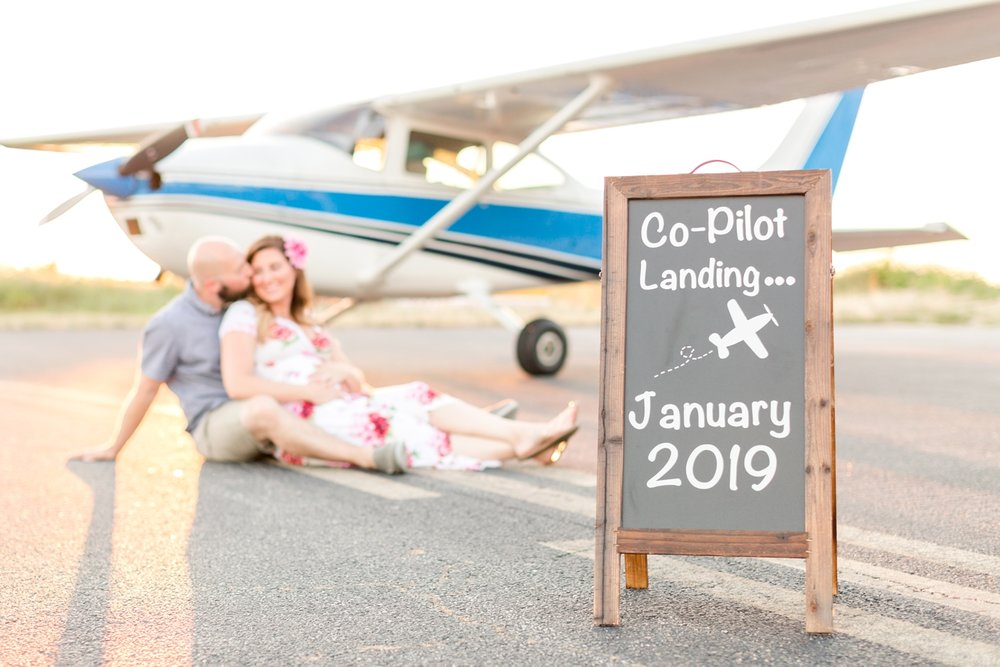See more from the   Calvert's pregnancy reveal at the Bay Bridge airport here  !