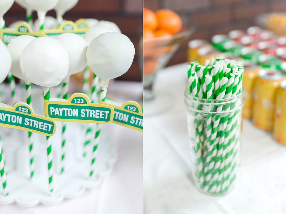 We cut the   green straws   and taped the signs on! So adorable.