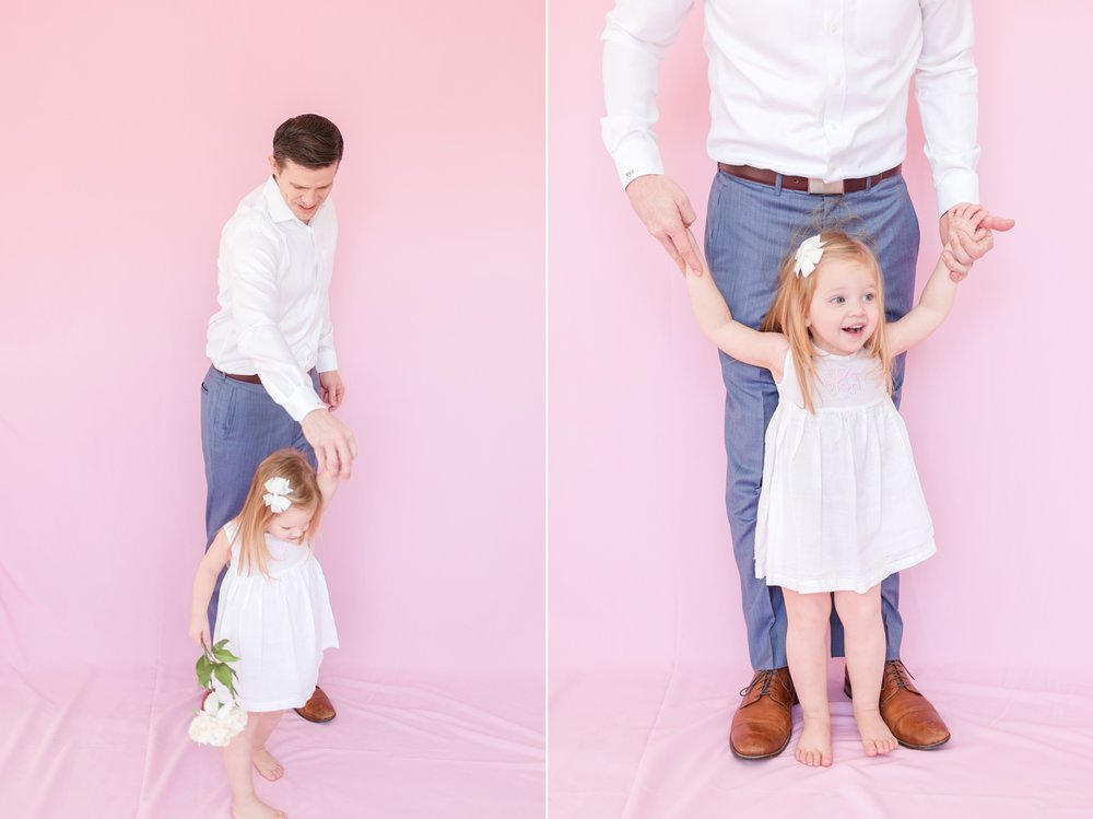 Emmy wanted her daddy to be with her in the first picture!