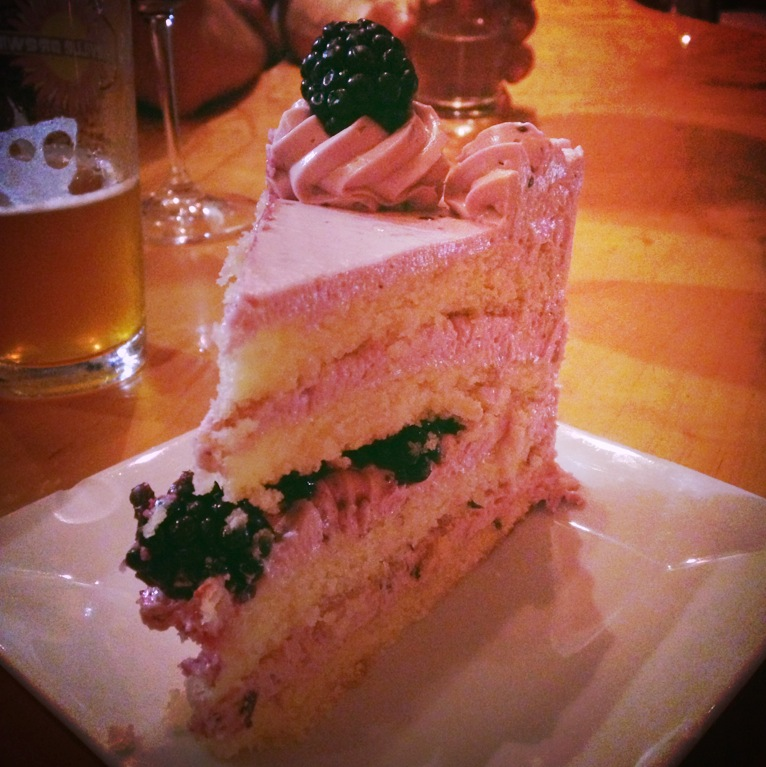 Blueberry cake from 5 Walnut Wine Bar.