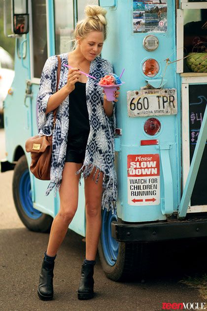 A coverup that is the perfect weight - even if it is steamy enough outside for shaved ice.