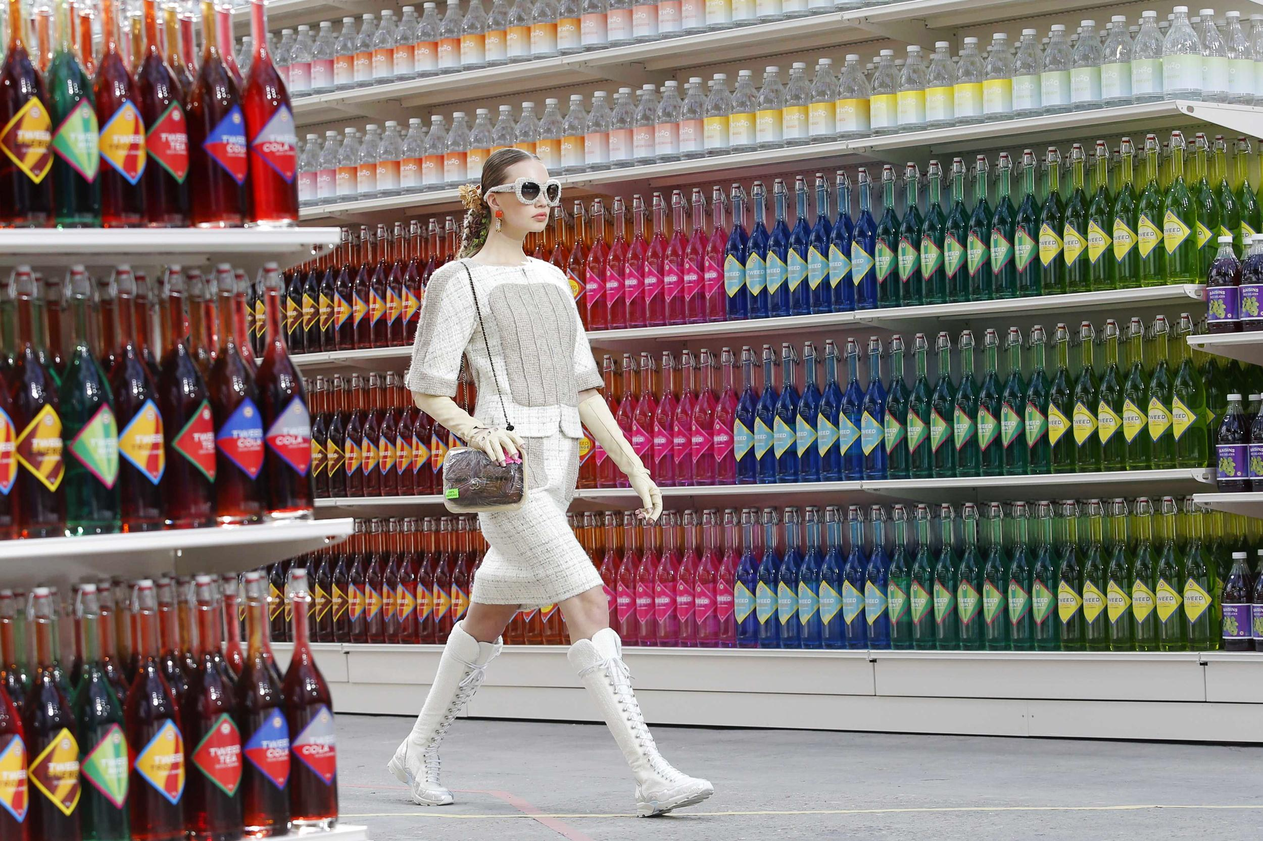 Chanel makes (grocery) shopping chic.