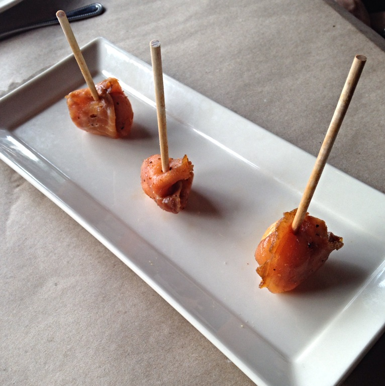 Smoked Salmon Lollipops - housemade pastrami smoked salmon with herbed Boursin cheese. FYI - these were only $3!