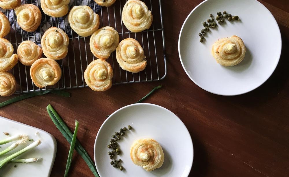 simple smoked salmon pastries 01