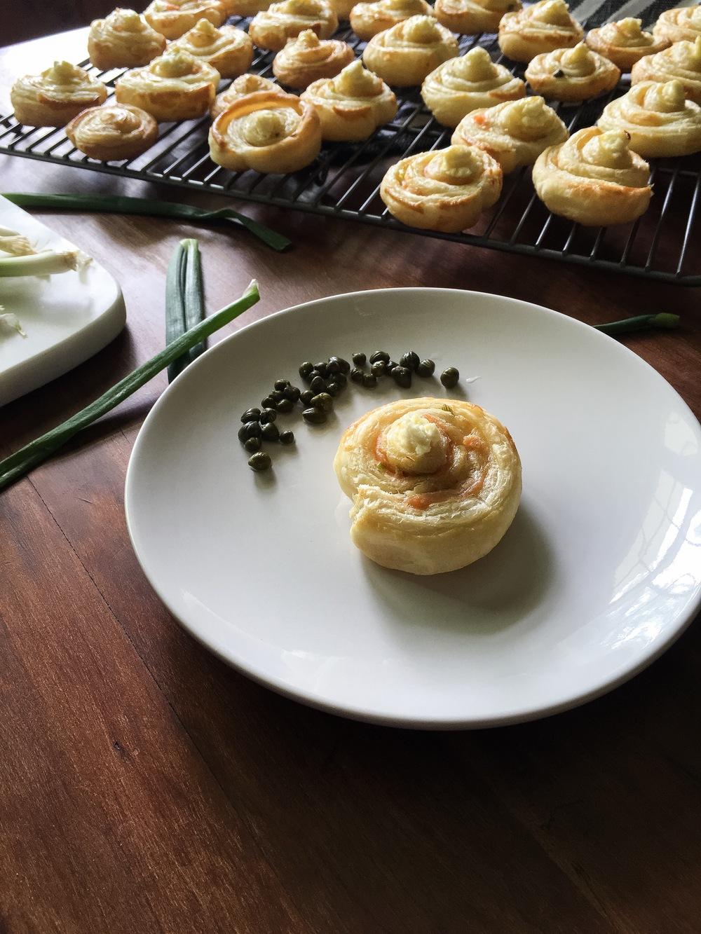 simple smoked salmon pastries 04
