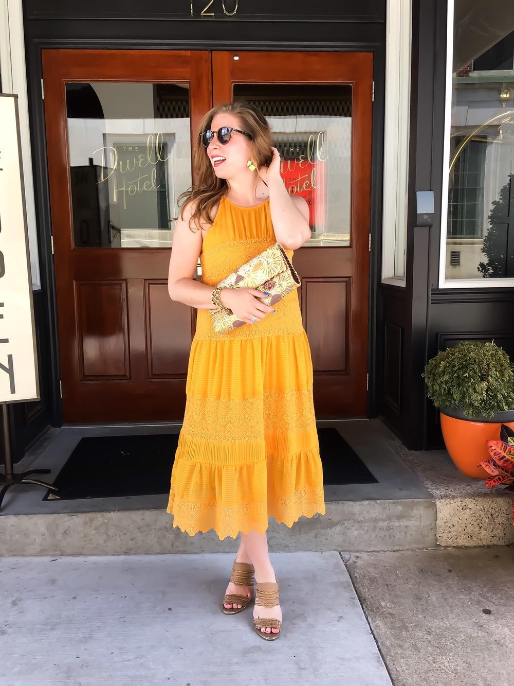 yellow anthropologie dress 01
