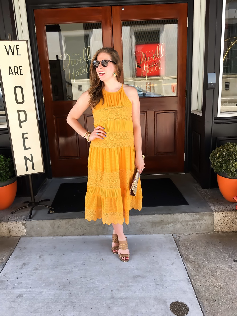 yellow anthropologie dress 04