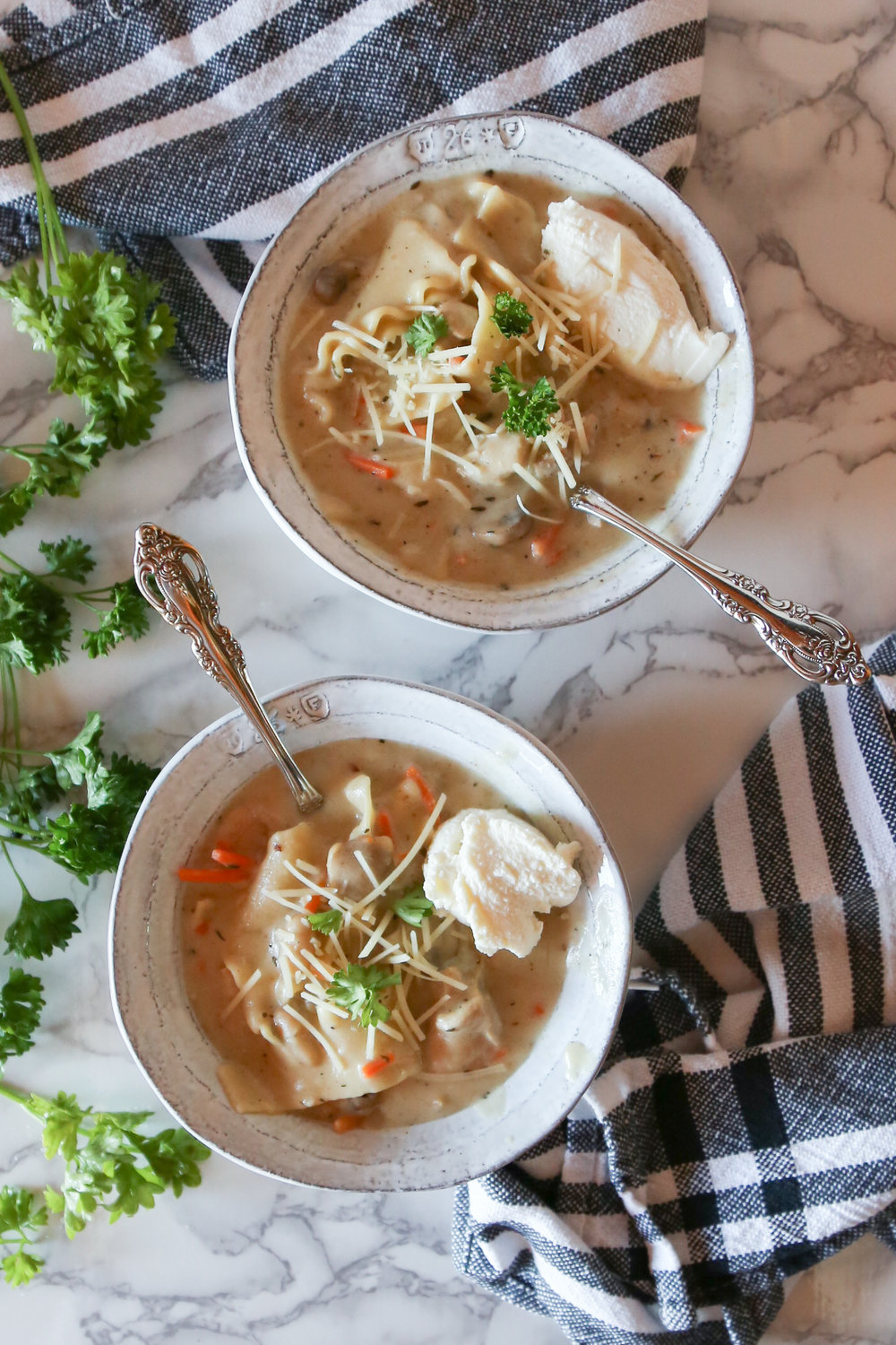 This creamy chicken lasagna soup is the perfect thing for the coldest of nights. It's hearty, satisfying, and can all be made using the powers of one dutch oven.
