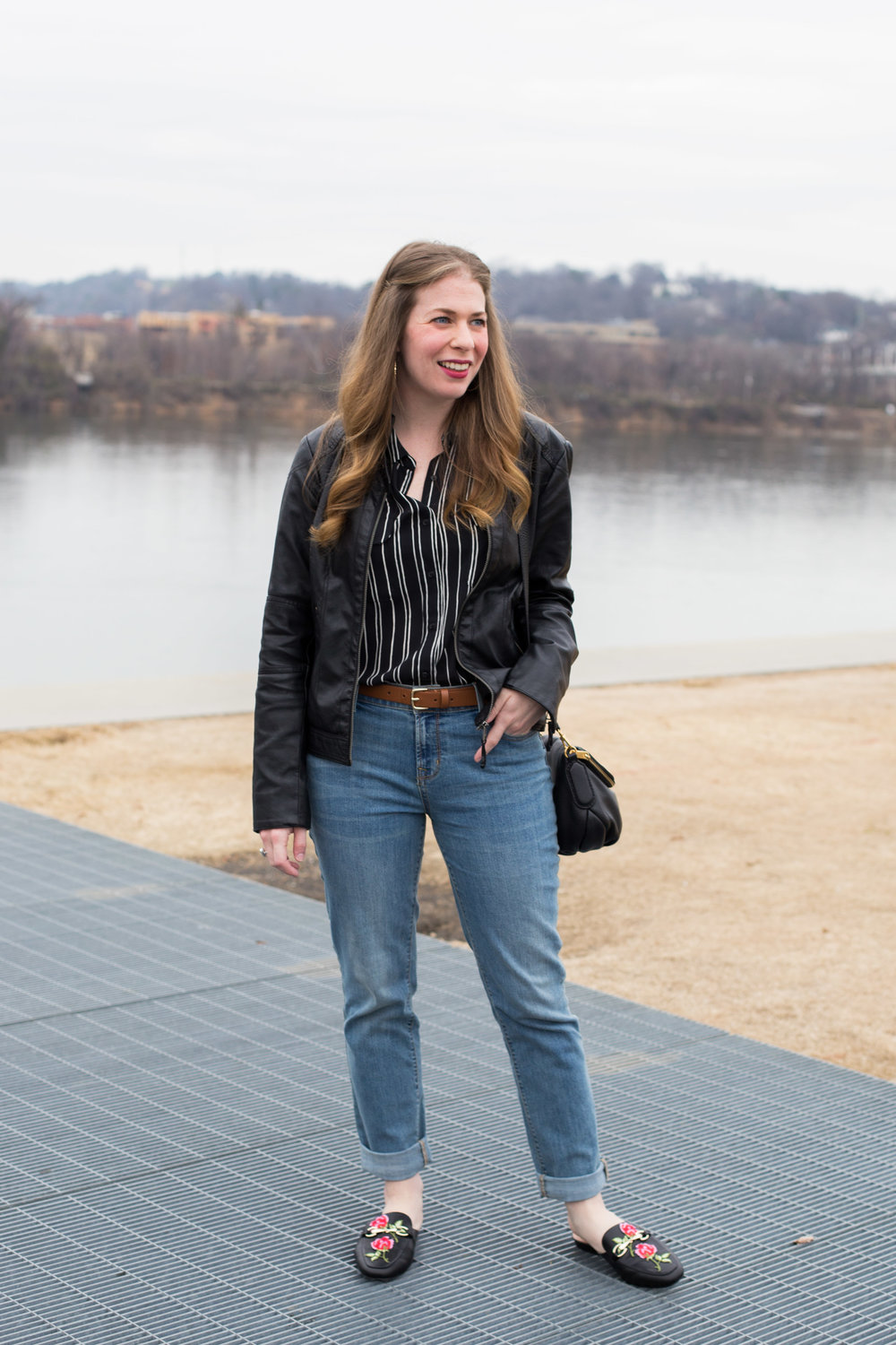 8d0ea930e5649 What I'm wearing this week. | Embroidered loafers and boyfriend ...
