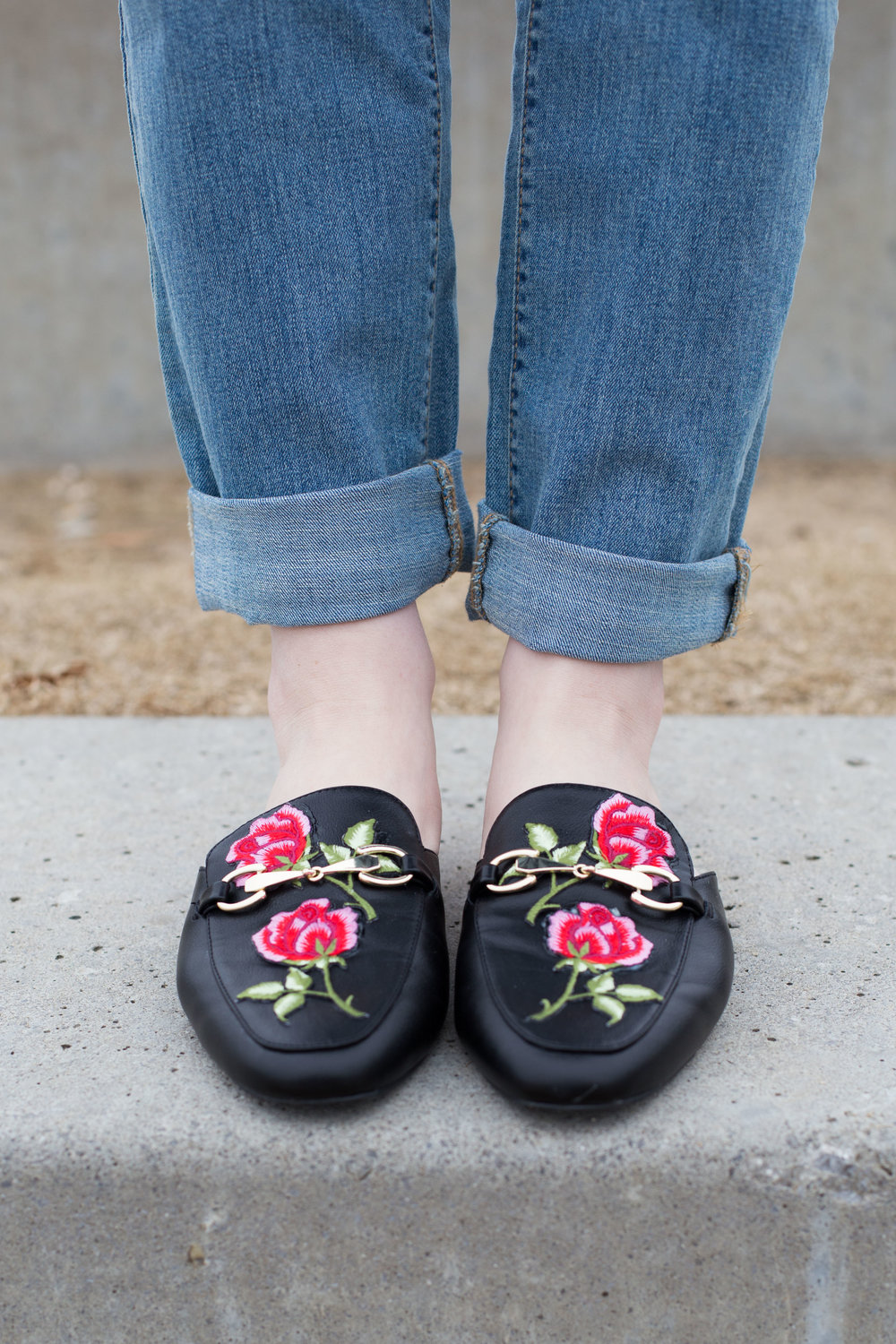 da0f5b30a6a DIY Embroidered Loafers — THE FASHIONABLE FOODIE