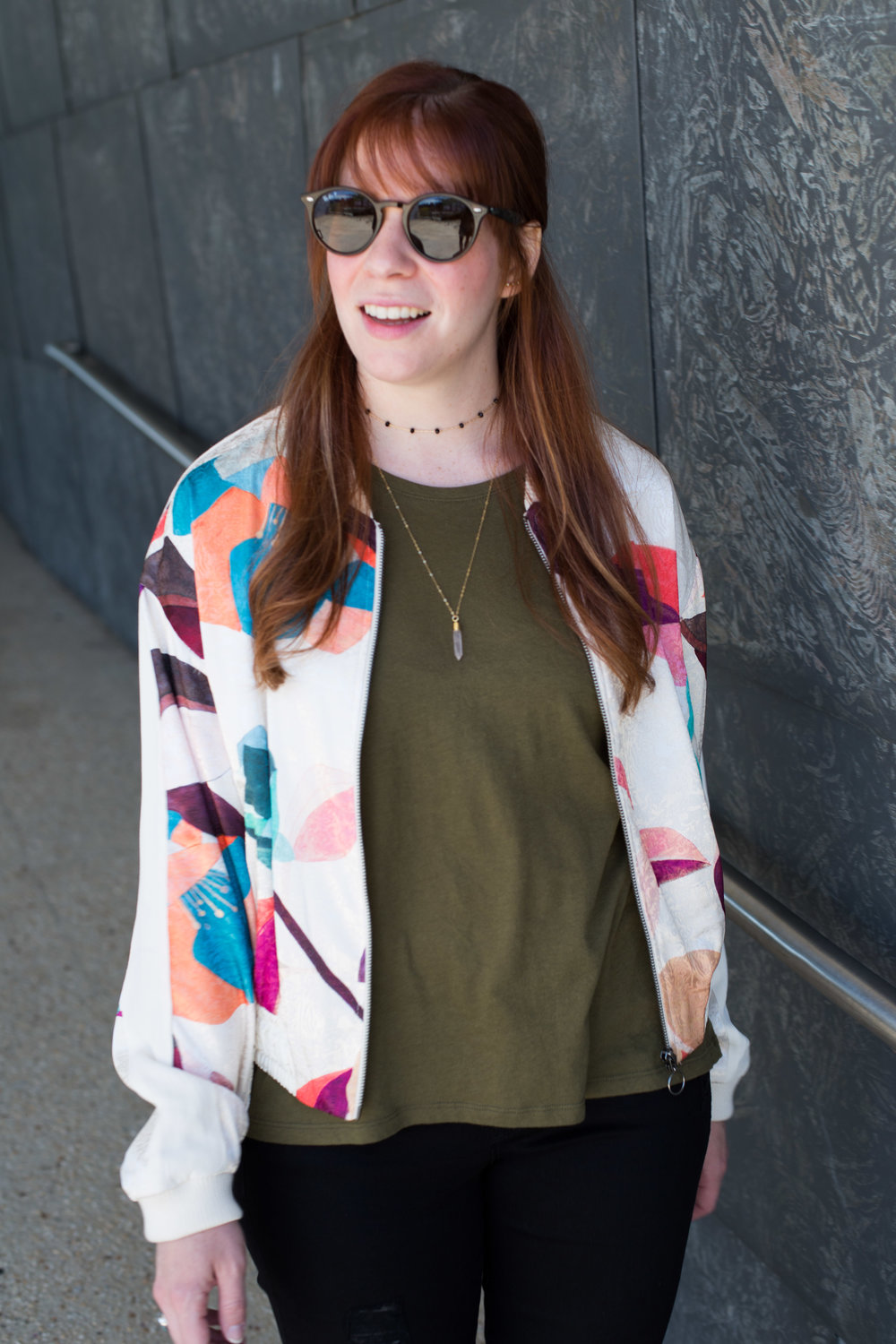 This silk bomber jacket from Anthropologie is one of my all time favorites.