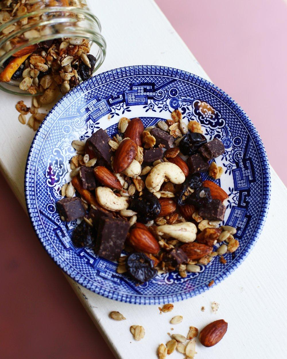 Simple Dark Chocolate Cherry Trail Mix Recipe