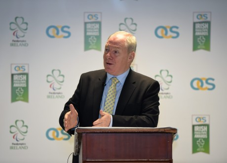 21 January 2016; OCS Limited announced as sponsors of the 2016 Irish Paralympic Team and the 2016 OCS Irish Paralympic Awards. Pictured at the announcement is Michael Ring, T.D., Minister of State for Tourism & Sport. OCS Limited, Airways Industrial Estate, Dublin. Picture credit: Stephen McCarthy / SPORTSFILE *** NO REPRODUCTION FEE ***