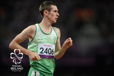3 September 2012; Ireland's Michael McKillop, from Newtownabbey, Co. Antrim, leads the field on his way to winning the men's 1500m - T37 final in a time of 4.08:11. London 2012 Paralympic Games, Athletics, Olympic Stadium, Olympic Park, Stratford, London, England. Picture credit: Brian Lawless / SPORTSFILE *** NO REPRODUCTION FEE ***