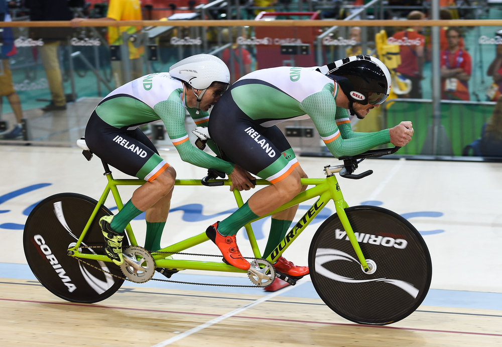 Cycling: Damien Vereker & Pilot Sean Hahessy in the Individual B Pursuit Qualifier