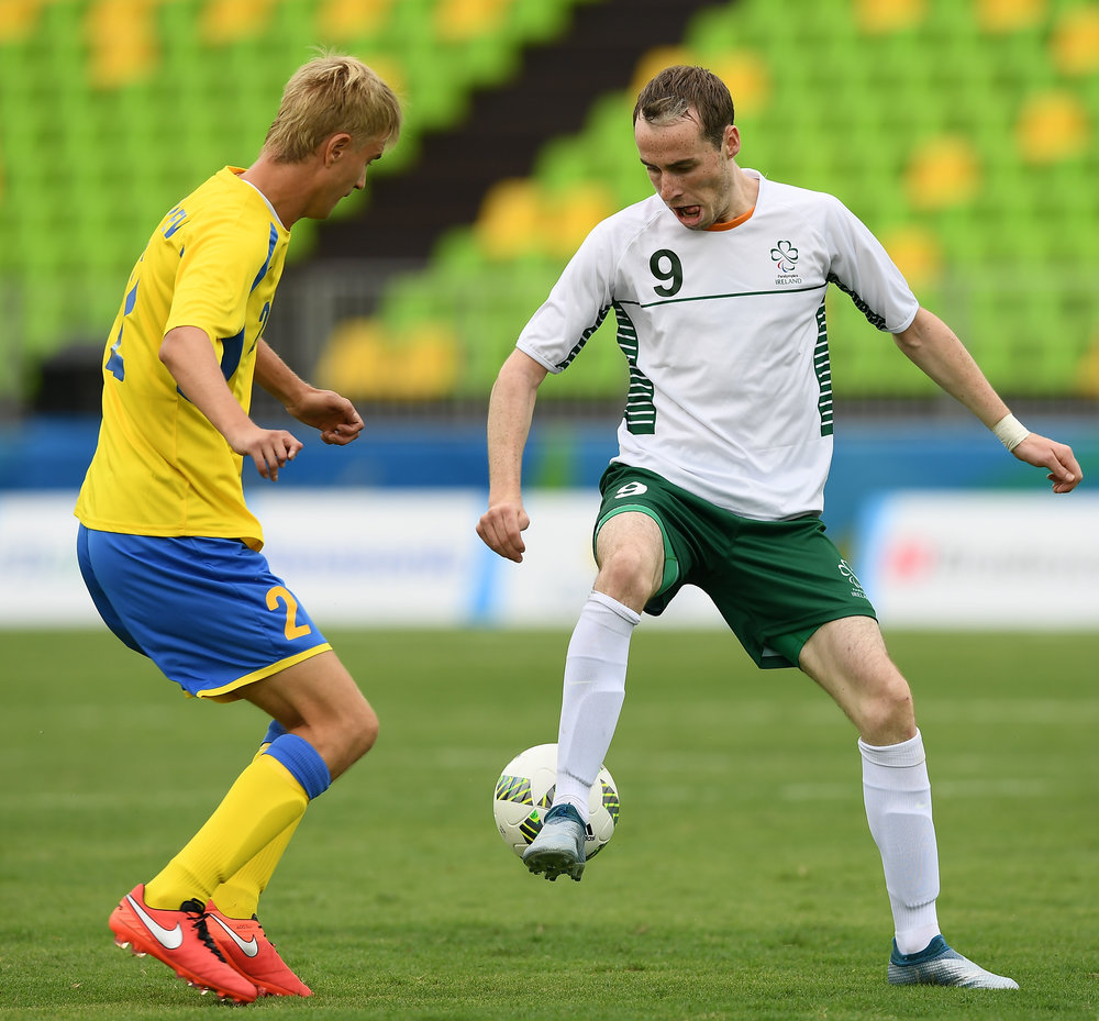 Football: Ireland's Ryan Nolan during match against Ukraine
