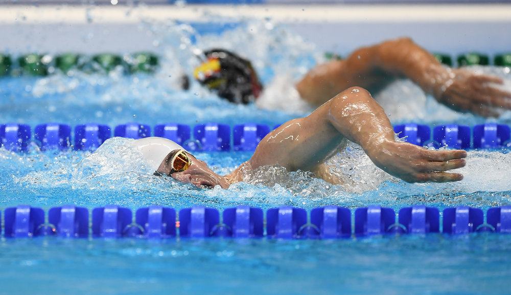 Swimming: James Scully in the S5 200m Freestyle Final