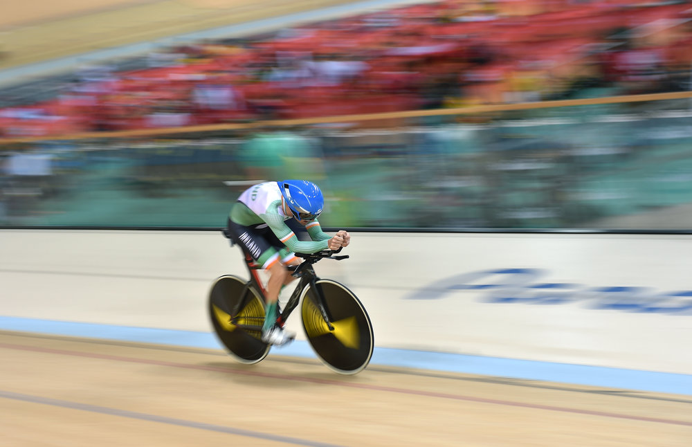 Cycling: Eoghan Clifford competing in the C3 Individual Pursuit Final