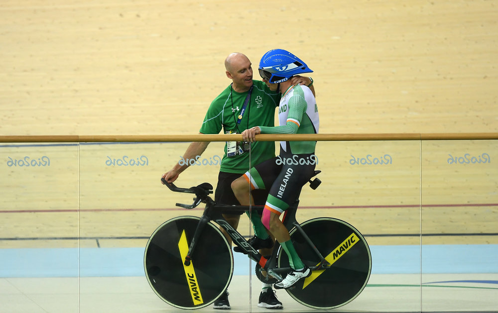 Cycling: Eoghan Clifford after the C3 Individual Pursuit Final