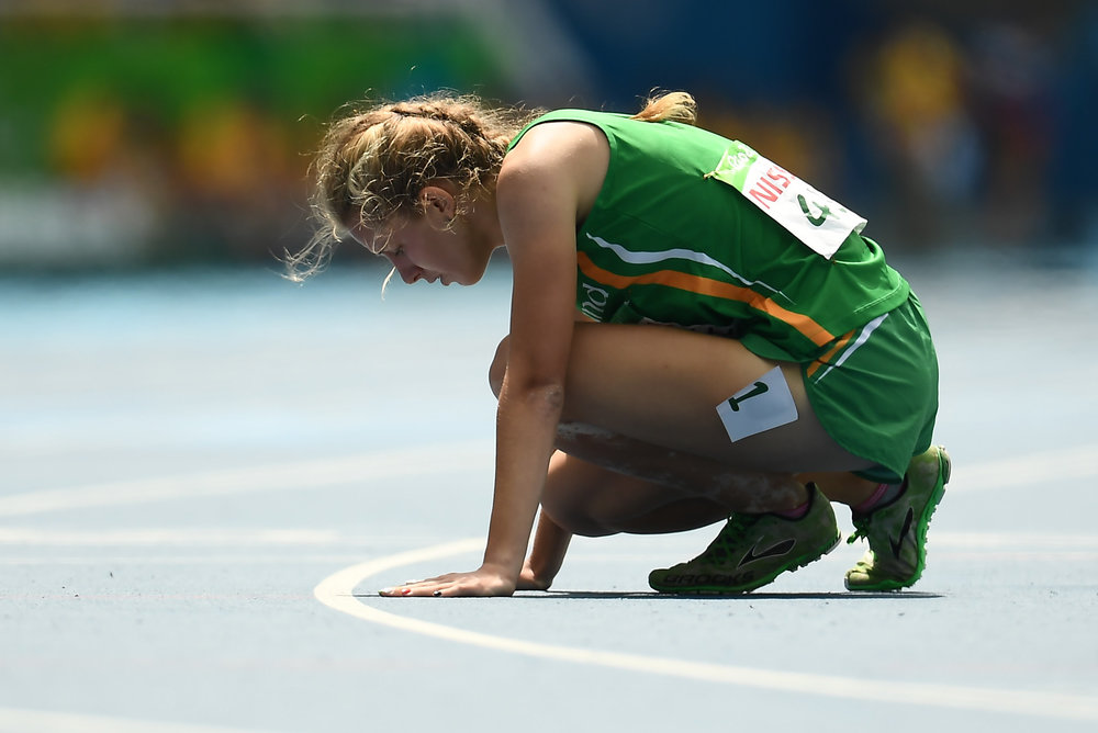 Athletics: Greta Streimikyte competing in the T13 1500m Final