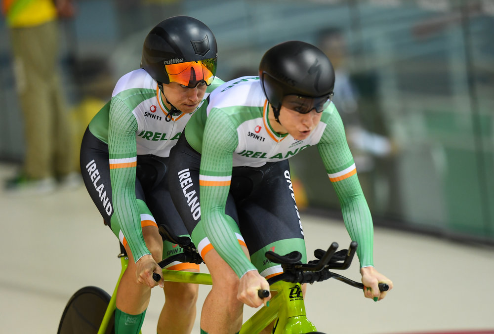 Cycling: Katie-George Dunlevy & Pilot Eve McCrystal in the Individual Pursuit B Qualifier