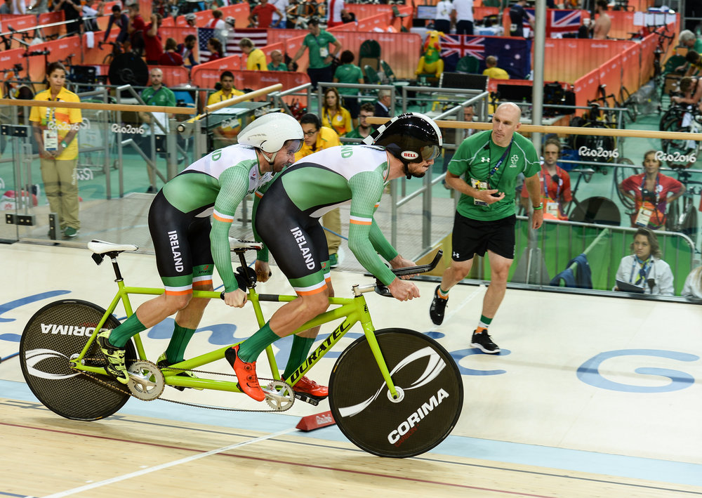Cycling: Damien Vereker & Pilot Sean Hahessy in the Individual B Kilo Final