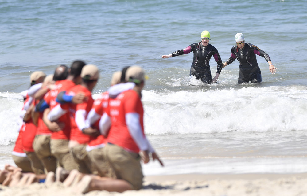 Triathlon: Catherine Walsh and Guide Fran Meehan complete in the PT5 B1