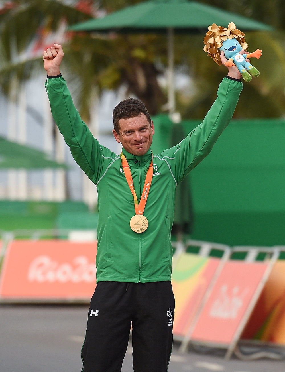 Cycling: Eoghan Clifford after winning Gold in the C3 Road Time Trial