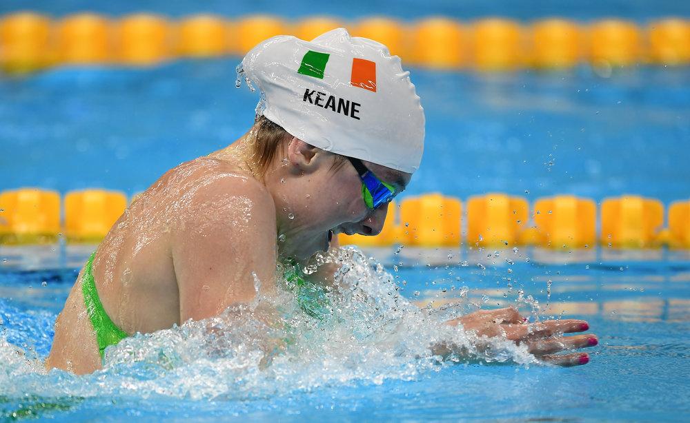 Swimming: Ellen Keane in the SB8 100m Breaststroke Final