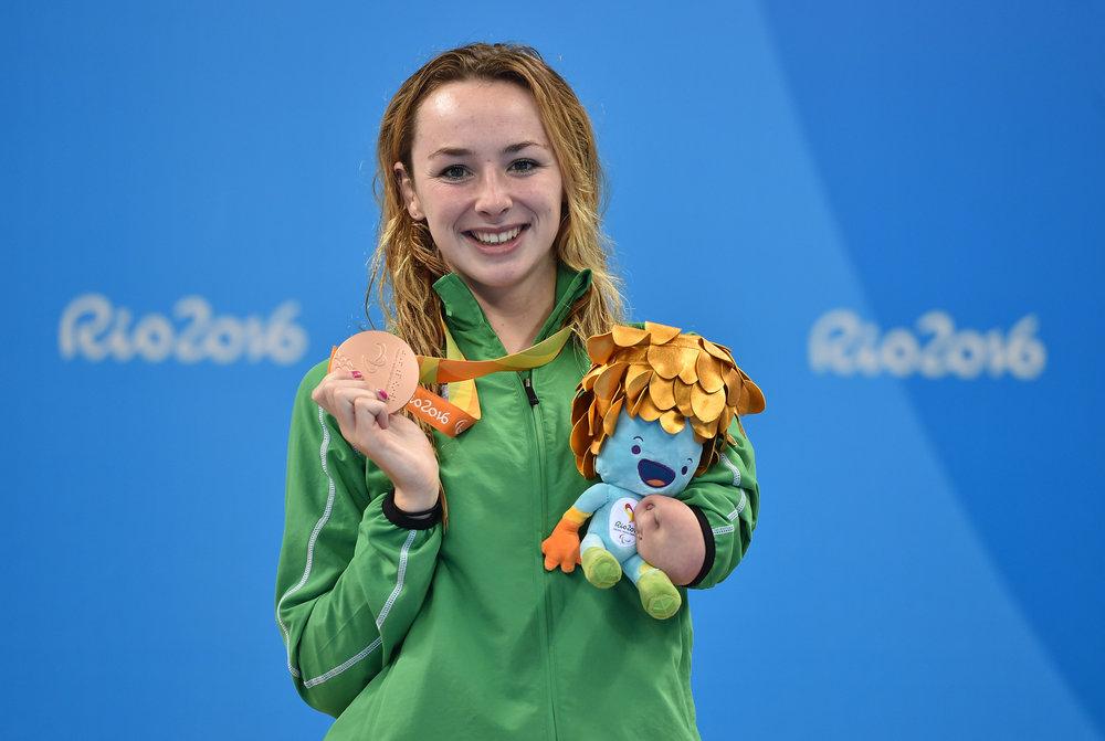 Swimming: Ellen Keane wins Bronze in the SB8 100m Breaststroke Final