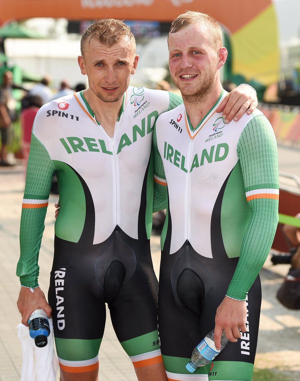 Cycling: Peter Ryan and Marcin Mizgajski in the Mens B Road Time Trial