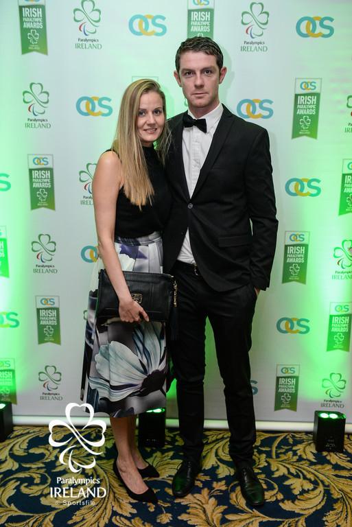 Football Team Leader Barry Ferguson with his wife Sarah