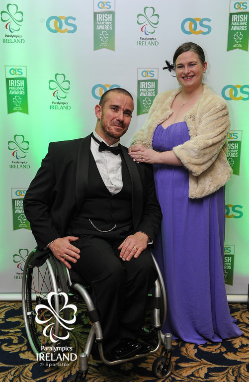 James McCarthy and Sinead McCarthy in attendance at the OCS Irish Paralympic Award