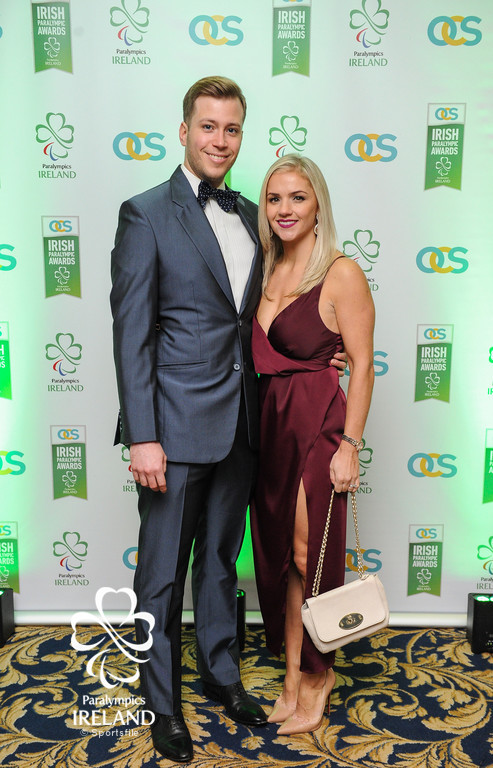 Jon Faulkner and Laura Ward in attendance at the OCS Irish Paralympic Awards
