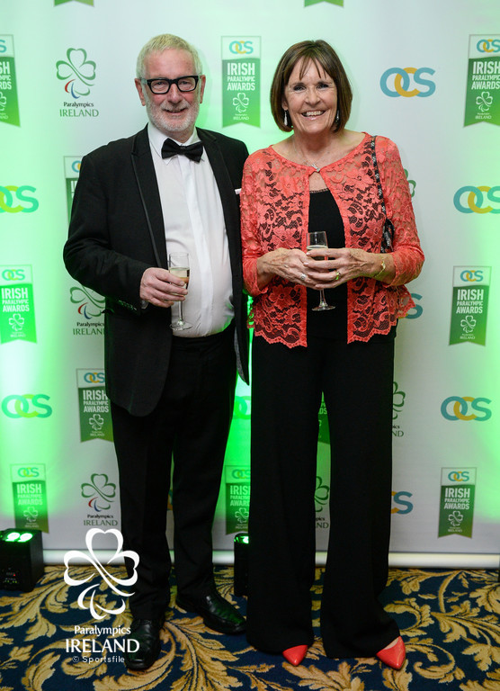 Jim and Kathy Laverty arrive at the OCS Irish Paralympic Awards