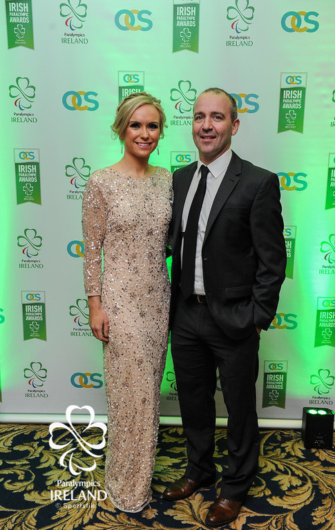 Laura Campion and Nicky Hamill in attendance at the OCS Irish Paralympic Awards