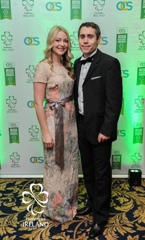 Elise and Jason Smyth in attendance at the OCS Irish Paralympic Awards