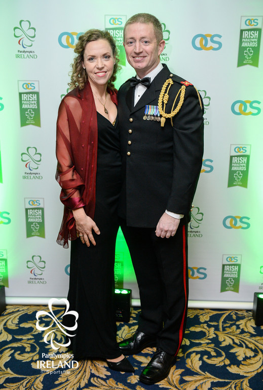 Raymond and Colette Kane arrive at the OCS Irish Paralympic Awards
