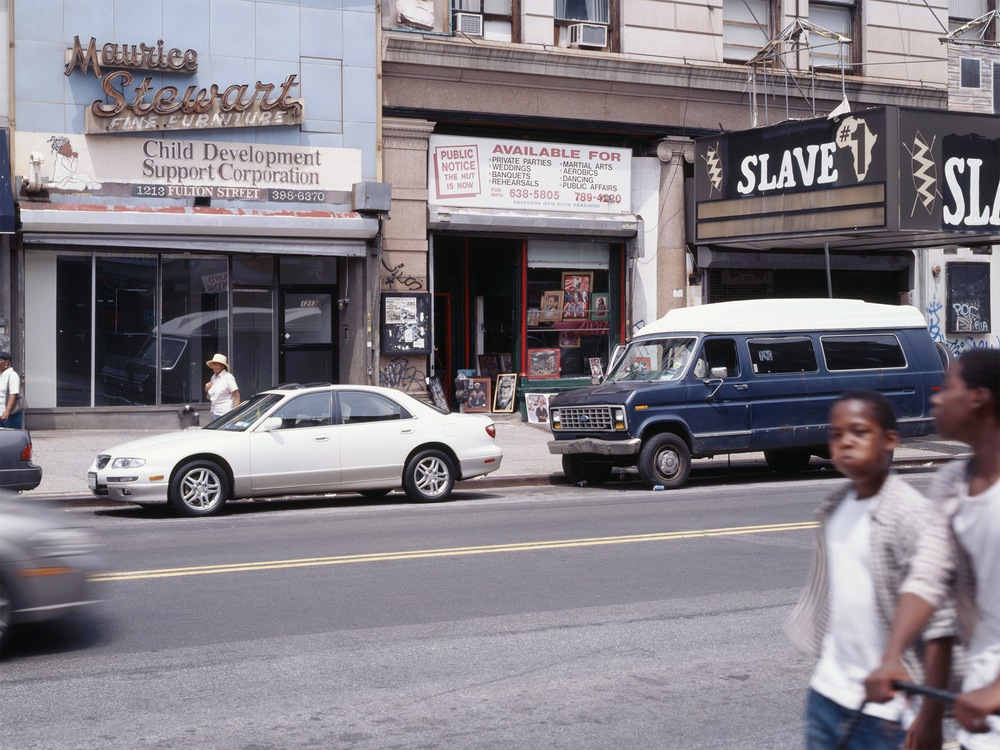 Slave #1   Bedford-Stuyvesant 2005   Fulton Street and Bedford Ave.  40.680533, -73.952902