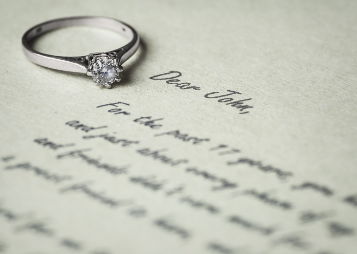 Sometimes a written letter is the best option for telling your spouse.