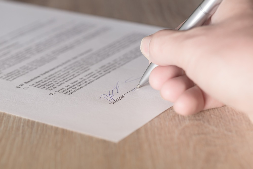 Marriage contract or agreement