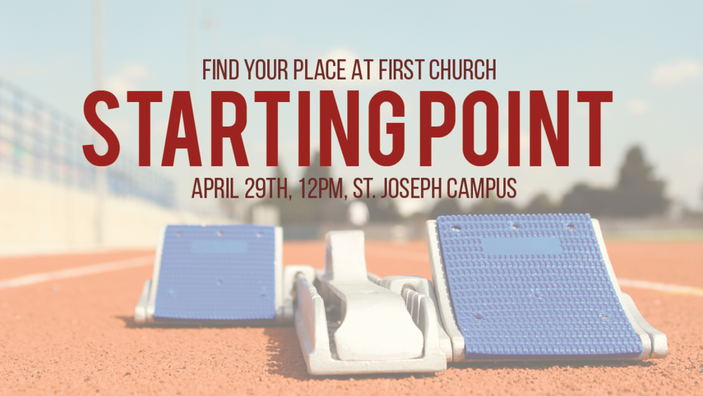 Sunday April 29th - Immediately following 11am Sunday Service at St. Joseph Campus
